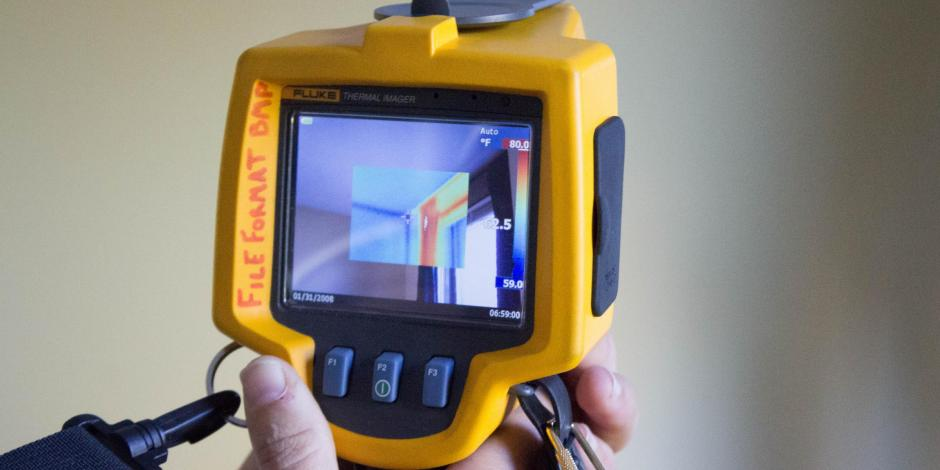 home energy audit infrared camera