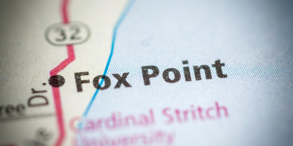 fox point wisconsin on map