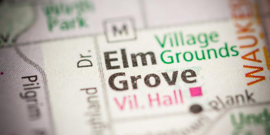 elm grove WI map