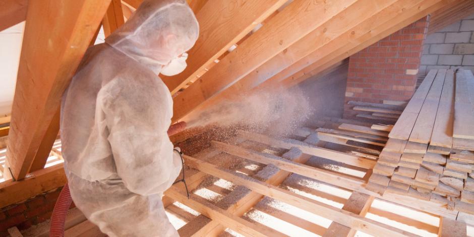 blown in cellulose insulation in attic